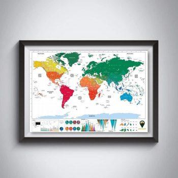 English Language Scratch Off Maps