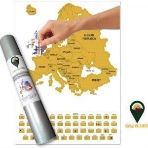 UK Europe Scratch Off Maps English Flags White | Global Walkabout
