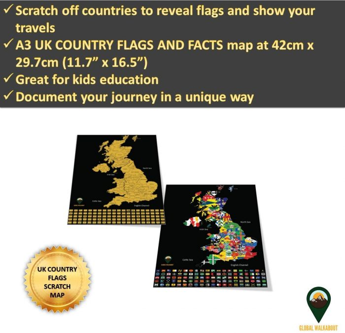 UK Map Flags_Black | Global Walkabout