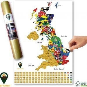 UK Scratch Off Map with Flags White | Global Walkabout