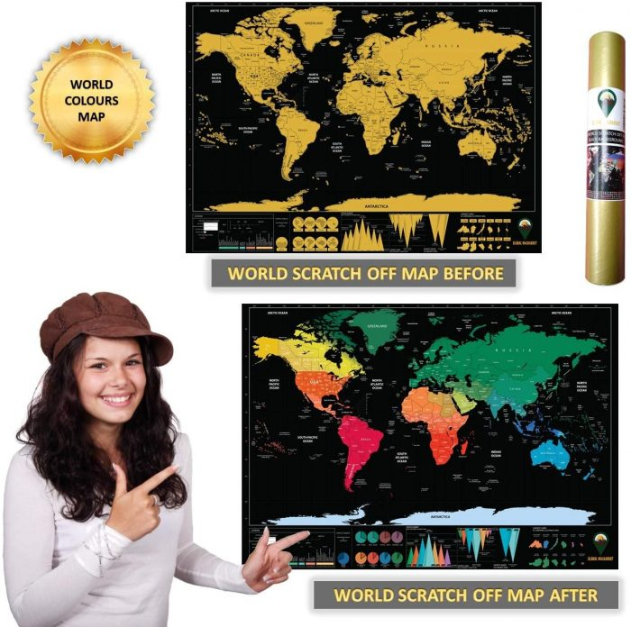 World Scratch Off Map Coloured_English_Black | Global Walkabout
