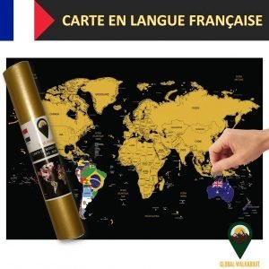 French Language Scratch Off Maps