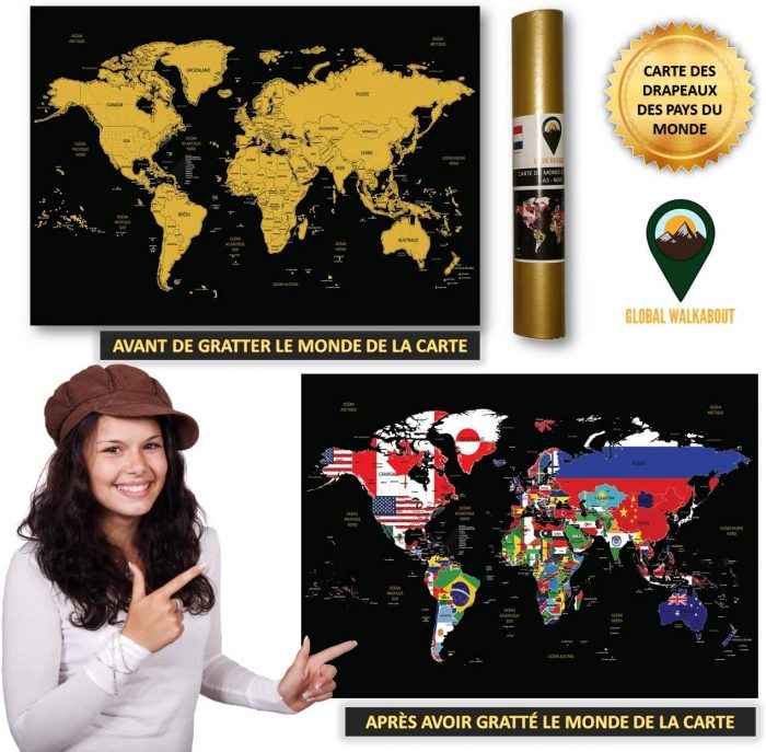 World Scratch Off Maps_French Flags_Black | Global Walkabout