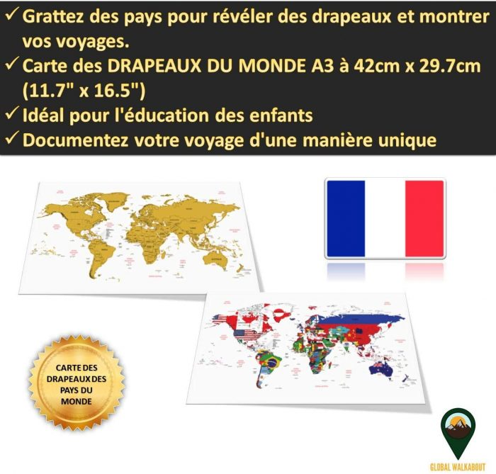 World Scratch Off Maps_French Flags_White Backgroun_Global Walkabout | Global Walkabout