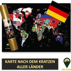 German Language Scratch Off Maps