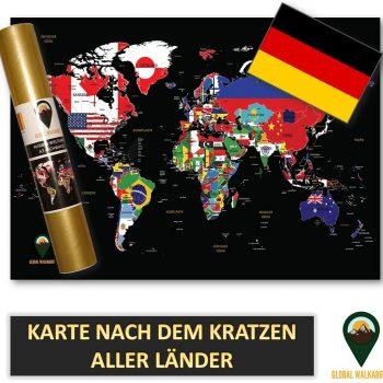 German Language Scratch Off Maps