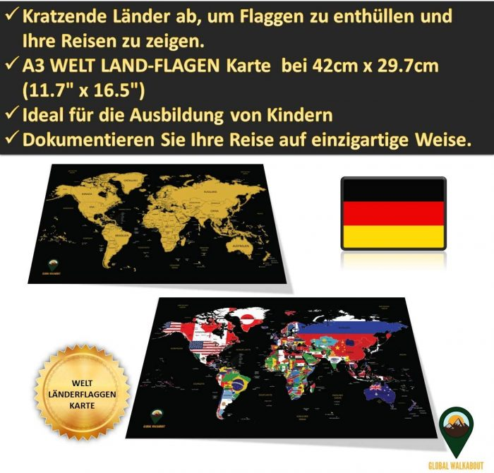 World Scratch Off Maps_German Flags_Black | Global Walkabout