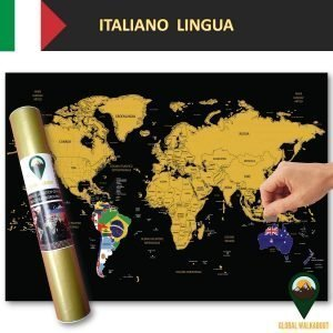 Italian Language Scratch Off Maps