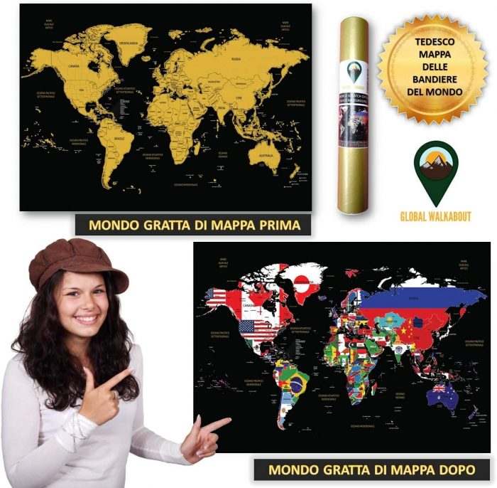 World Scratch Off Maps_Italian Flags_Black | Global Walkabout