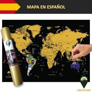 Spanish Language Scratch Off Maps