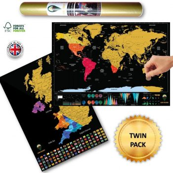 World Scratch Off Map UK Scratch Off Map Colours Black | Global Walkabout