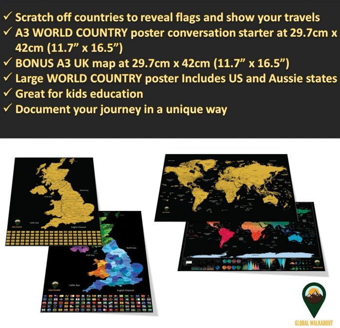 World Scratch Off Maps_UK Map_Black   Global Walkabout