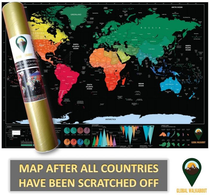 World Scratch Off Maps_UK Map_Black | Global Walkabout