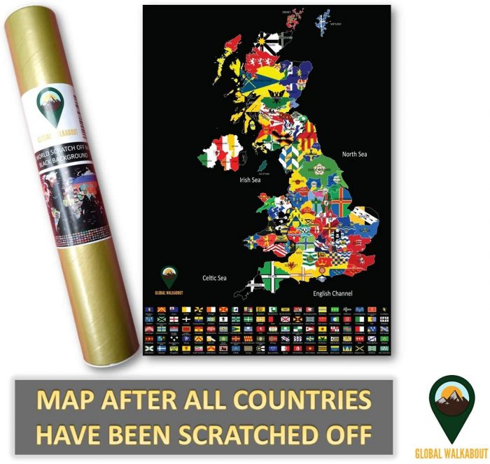 World Scratch Off Maps_UK Map_Black_Deluxe | Global Walkabout